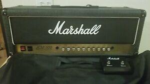 Vintage-Marshall-JCM-900-4100-100-Watt-Tube-Guitar-Amp-Head-w-Footswitch-Cover