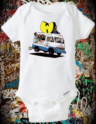 Onesie Wu Tang Ice Cream Truck Baby shower, New Born, C.R.E.A.M., 36 Chambers