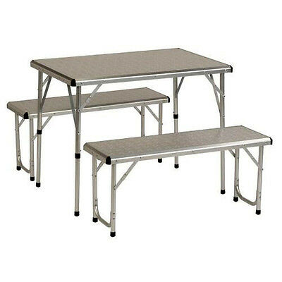COLEMAN ALUMINIUM PACKAWAY CAMP CAMPING TABLE & CHAIR BENCH SET (1237189)