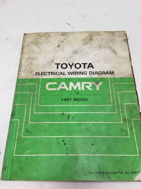 1987 Toyota Camry Oem Factory Electrical Wiring Diagram