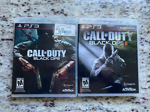 Call-Of-Duty-Black-Ops-1-And-2-PlayStation-3-PS3-Video-Games-Both-CIB-Lot-Of-2