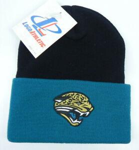 JACKSONVILLE-JAGUAR-NFL-FOOTBALL-VTG-2TONE-KNIT-CUFFED-BEANIE-WINTER-CAP-HAT-NEW