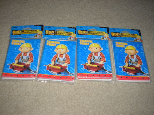 New Lot of 4 Bob the Builder Thank You Cards 8 Pack w// Envelopes