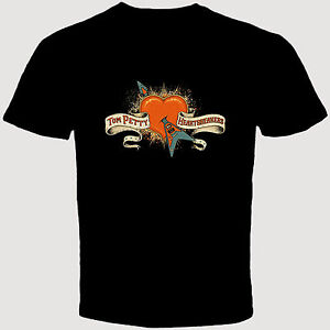 new tom petty and the heartbreakers 40th anniversary tour men 39 s black t shirt ebay. Black Bedroom Furniture Sets. Home Design Ideas