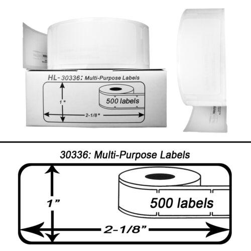 200 rollos de 500 Etiquetas Multipropósito en cajas para Dymo labelwriters 30336