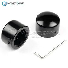 Black Front Axle Nut Cover Cap For Harley Softail Dyna V-Rod Sportster 883 1200