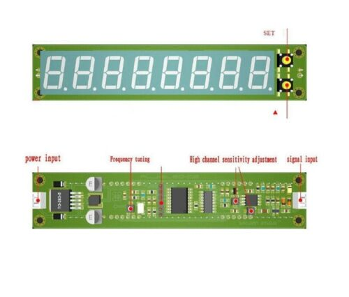 Signal Frequency Counter RF 0.1-60MHz 20MHz ~ 2.4GHz Green Cymometer Tester 8LED