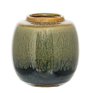 Bloomingville Vase Blumenvase Keramik Blau Grün 16cm Ebay