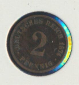 2 1874 B Sehr Schön Bronze 1874 2 Pfennig 7849309 Konstruktiv Deutsches Reich Jägernr