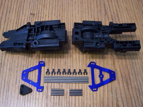 Traxxas 1//10 E-Revo VXL 2.0 Bulkheads Tie Bars Pins Front Rear Diff Case 86086-4
