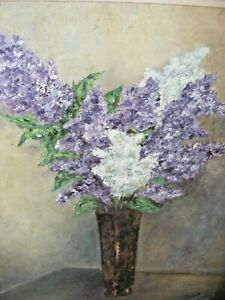 VINTAGE-OIL-PAINTING-STILL-LIFE-OF-FLOWERS-BY-GWENITH-SWAIN-WELSH-ARTIST