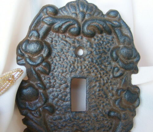 Cast Iron Single Switch Plate Cover Rustic Brown