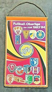 Orig. FANION RDA Superliga 1983/84 ANS DE FOOTBALL FANION chimie Leipzig Union FCM