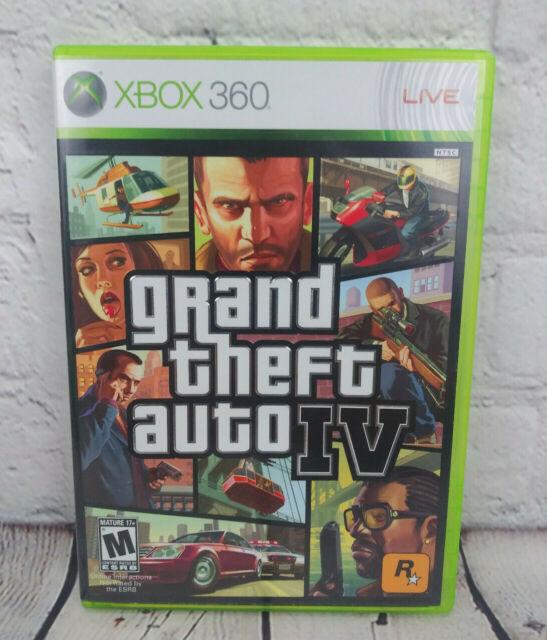 Grand Theft Auto IV (Microsoft Xbox 360, 2008) Video Game komplett mit Karte