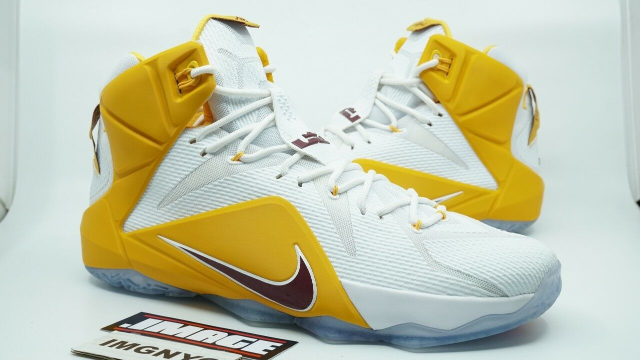 nike lebron james christ 12 nouvelles ctk christ james the king taille 14 or blanc 551146 pourpre f1d87d