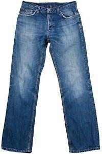 Tommy-Hilfiger-Femmes-Pantalon-Jeans-Bootcut-Coton-Bleu-Bouton-Poche-Taille