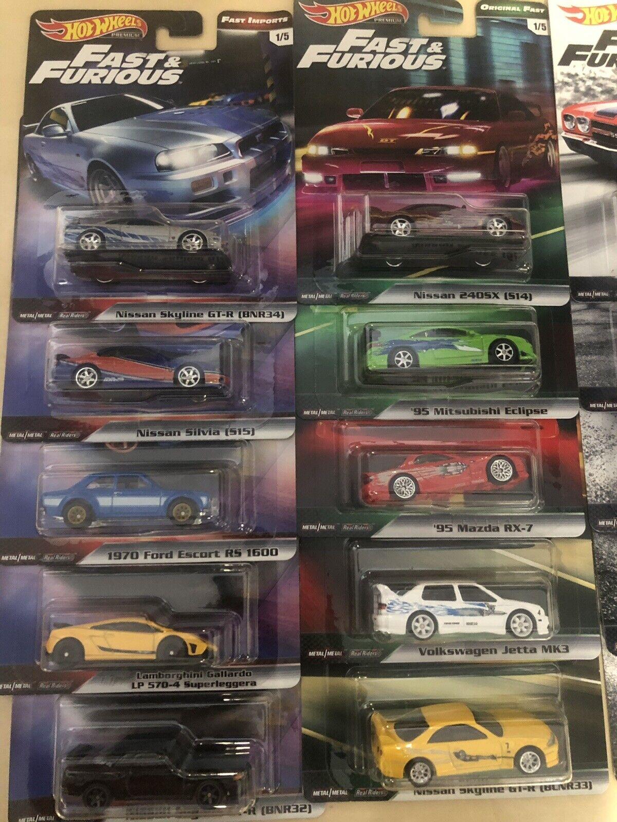Hot Wheels Rápido Y Furioso Fast & Originial.. 2 Juegos
