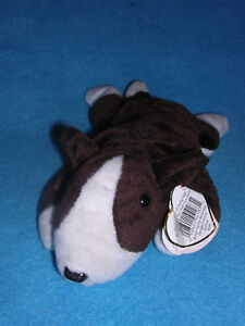 8850b5302d4 TY Beanie Babies BRUNO Bull Terrier DOG Puppy BROWN White 1997 ...