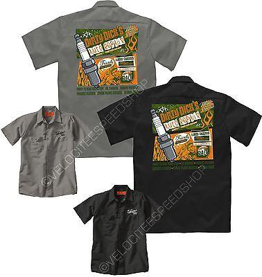 Velocitee Mens Mechanic Garage Work Shirt After 8 Hot Rat Rod Mercury W16235