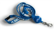 Airbus A320 Tubular Lanyard + Badge Reel