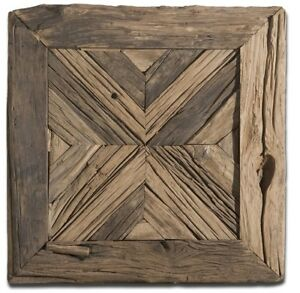 Details About Rustic Wood Wall Art Square Country Farmhouse Decor