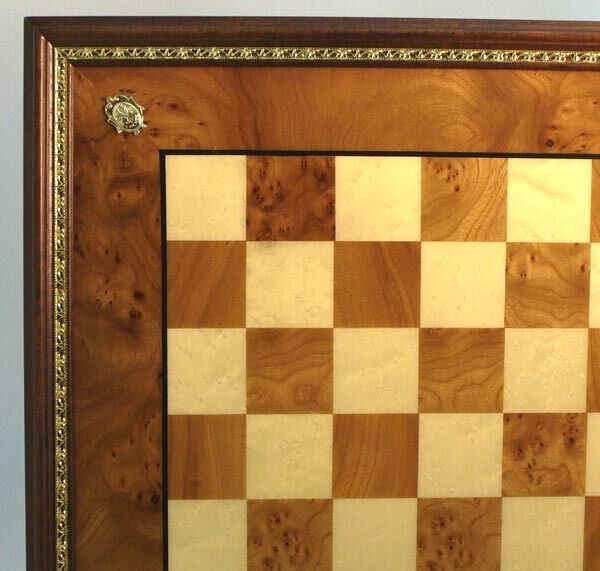 CHESSBOARD - 22 22 22  - 2  SQ's - DELUXE ELM BRIAR & MAPLE - FROM ITALY (ww 432ebg) 1072d8
