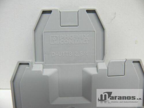 NEUF PHOENIX CONTACT type D-uttb 2,5//4 clôture couvercle D uttb 2,5//4