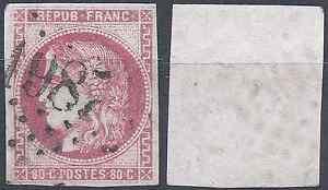 FRANCE-STAMP-CERES-BORDEAUX-NO-49-OBLITERATION-LOZENGE-GC-1987-SIDE
