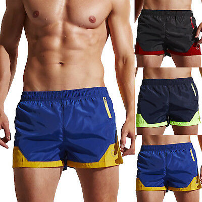 Herren Badeshorts Kurz Badehose Badeboxer Schwimmhose Bademode Gym Sport Shorts