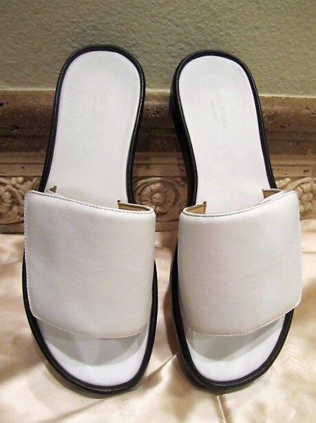 NEW Rag Sandals & Bone 'STEFFI' Colorblock Pelle Slide-White Sandals Rag Taglia: 38 aa4816