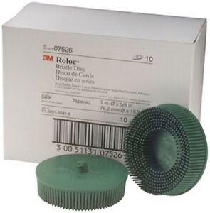 Scotch-Brite-Roloc-Bristle-Disc-07526-Green-3-034-Coarse-10-discs-bx-3M-7526