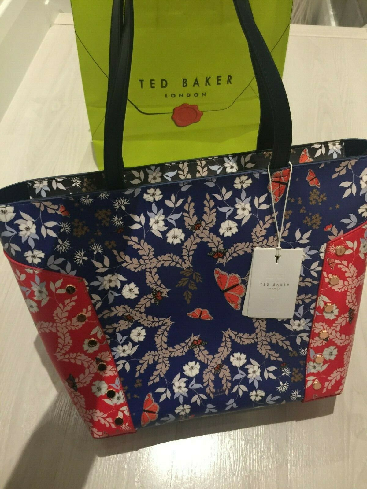 TED BAKER Kyoto Gardens Zip Top Large Tote Bag RRP : Perfect Gift : New