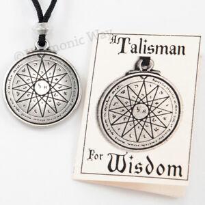 WISDOM-SEAL-of-SOLOMON-Amulet-Magical-Mercury-Pentacle-Talisman-Necklace-pendant
