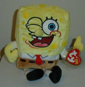 Ty Beanie Baby - SPONGEBOB THUMBSUP (8.5 Inch) MINT with MINT TAGS