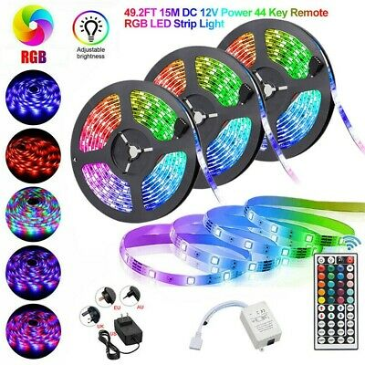 LED Strip Light RGB 5050 SMD 2835 Flexible Ribbon RGB Stripe 5M 10M 15M full kit