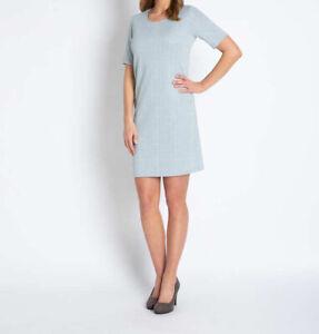 "1.4980 designer-kleid aus jersey-jacquard ""hellblau"" gr"