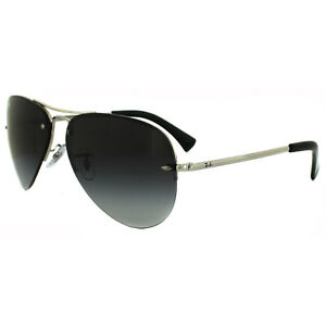 9e47dc2f754 Image is loading Rayban-Sunglasses-3449-Silver-Grey-Gradient-003-8G-