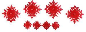 Placemat-amp-Coaster-Set-Felt-Christmas-Festive-Tableware-Red-Drinks-Coaster-Xmas