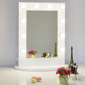 white hollywood makeup vanity mirror with light illuminated mirror dressing r. Black Bedroom Furniture Sets. Home Design Ideas