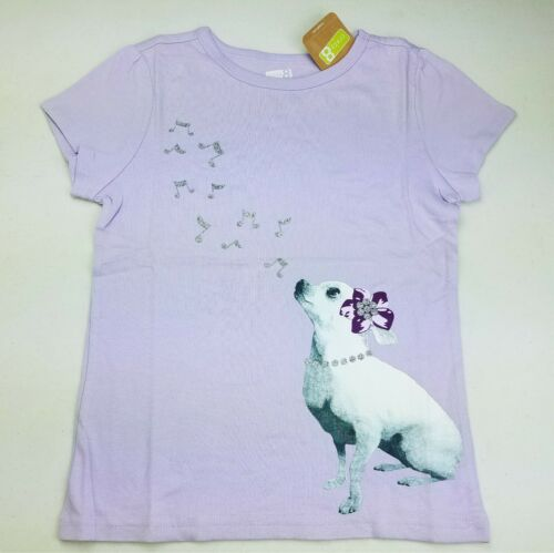 Girls CRAZY 8 by Gymboree lavender purple chihuahua dog t shirt 4T 5 6 NWT top