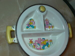 Excello Vintage Baby Food Warmer Dish With Dutch Boy