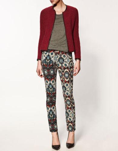jakke Bnwt Zara cardigan lille lynlås størrelse rød S uld med YOYTdrwq