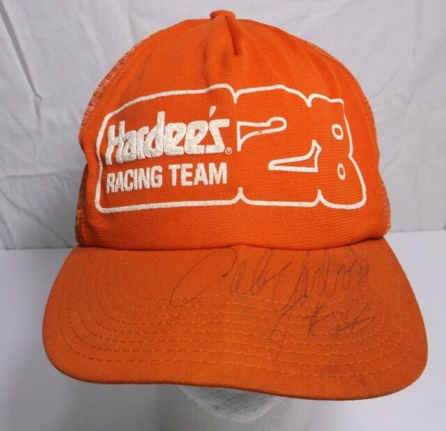 2dd872c018a Vintage Nascar Hardee s Racing Team  28 Cale Yarborough Autographed Trucker  Hat