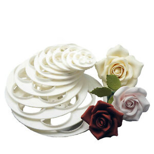 Cake Decorating How To Make Roses : Fondant Mold Cake Sugarcraft Rose Flower Decorating Cookie ...