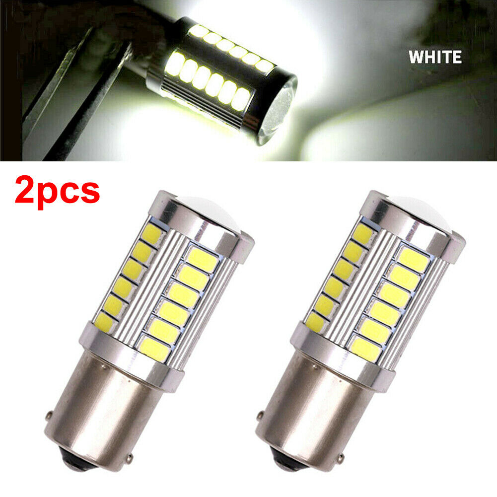 2X LED Car White Bulbs BA15S P21W 1156 Backup Reverse Light 33-SMD 5630 5730 NEW