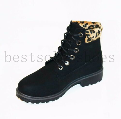 Ladies Hiking Boots Womens Ankle Desert Trail Combat Chelsea Walking Shoes Size