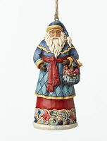 Heartwood Creek Santa with Basket Hanging Ornament NEW in Gift Box - 27384