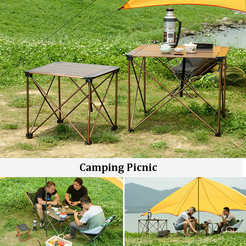 Portable Folding Table Picnic BBQ Party Dining Camping Desk Plastic Auminum CA