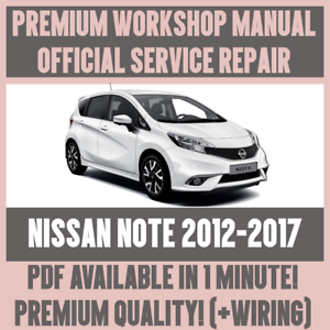 workshop manual service repair guide for nissan note 2012 2017 rh ebay co uk nissan note service manual free download nissan note e11 electronic service manual