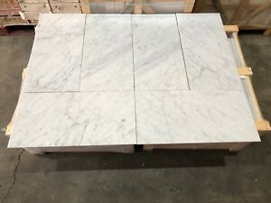 Semi Polished Marble Tiles Floor